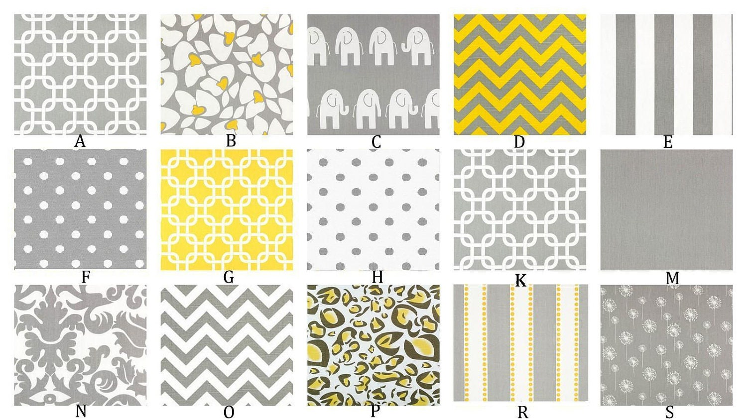 Gray and yellow custom crib bedding set you design yellow for Yellow and gray design
