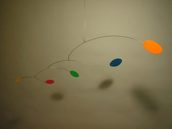 Wind-E mobile Baby Nursery design Calder style Kinetic Home Decor