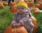 Candy Corn Earflap and Cuff Hats Crochet Patterns PDF 105c