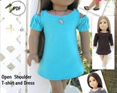 Open Shoulder T-Shirt and Dress - PDF Pattern