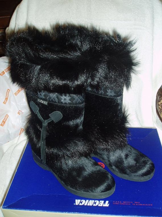 Tecnica Skandia Women S Cowhide Boots With Goat Fur Trim