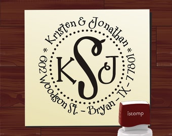 Custom SELF INKING stamp - Return Address Rubber Stamp - style MS5378- Personalized wedding or christmas gift