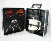 "Mad Men Portable Coffee Bar - Hard shell case, accessories, made by ""Platt"", Original KEY"