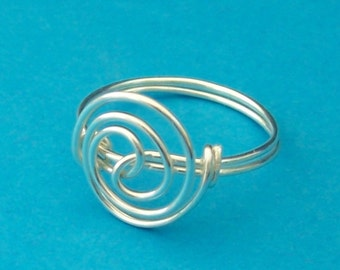 Unique Ring For Women Silver, Unique Wire Ring, Unique Ring For Women, Artistic Wire Ring