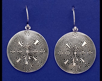 TOURAINE LABYRINTH- Sterling Silver- Earrings