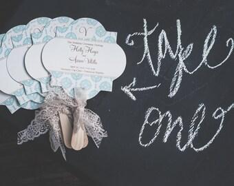 100 Vintage Wedding Favor Fan Programs - Quatrefoil