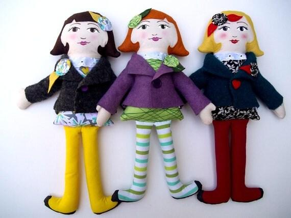 Handmade Custom Cloth Doll - Rag Doll - Fabric Doll - Soft Doll