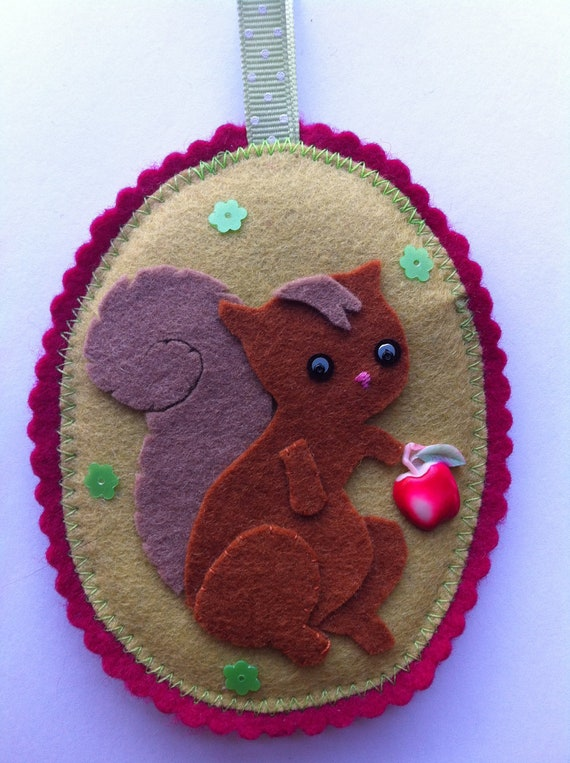 Felt Squirrel Ornament