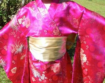 Girl's Geisha costume size 5 / Dress up / Birthday / Pageant / Halloween / Trunk