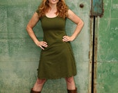 Inventory Sale - Organic Dress - Hemp Elven Pocket Dress