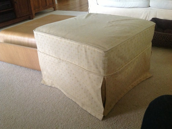 evieandme Buyer, Ottoman Custom Slip Cover Reserved Listing