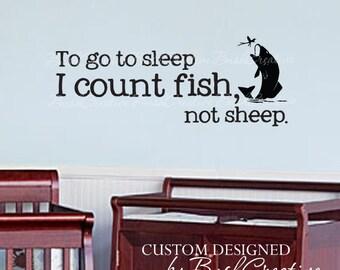 """Wall Decals Nursery Fishing Fish Baby Humor 103-40"""""""