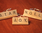 Choose One Or Custom Christmas Scrabble Ornament - 3 To 4 Letter Words