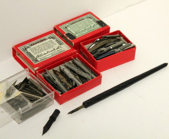 Vintage Fountain Pen Nibs Esterbrook Hunt Miller with Gillott Pen