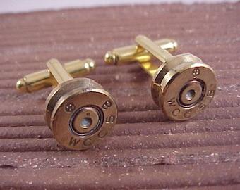 Bullet Cufflinks / Western Cartridge Corp Rifle Shell Cuff Links / 30 Caliber Rifle Cuff Links / Real Bullet Cufflinks / Fathers Day Gift