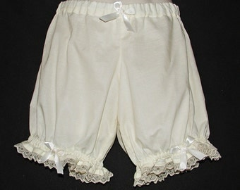 Women's Cream Low Rise Bloomers