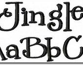 Jingle Embroidery Font 4 Size
