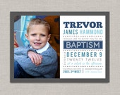 LDS Baptism Invitation - Trevor