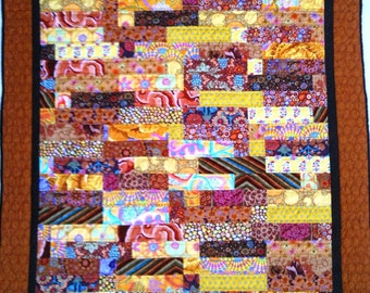 Almost Fall 48 x 51 inch hand quilted art quilt