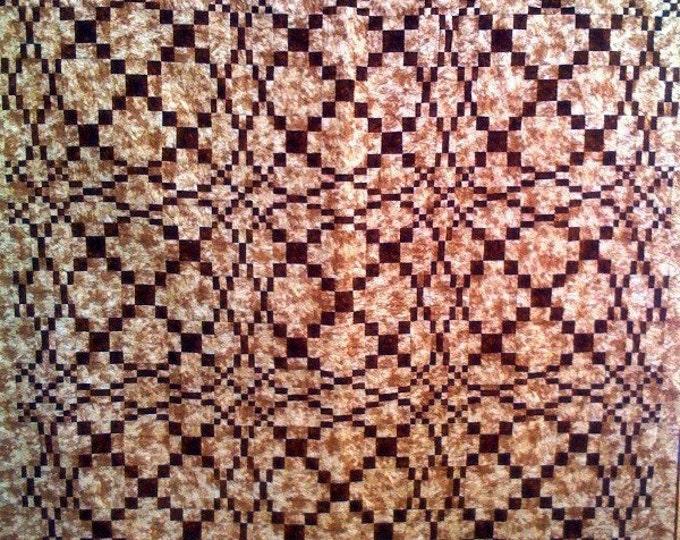 Cognac 80 x 80 inch Christmas quilt
