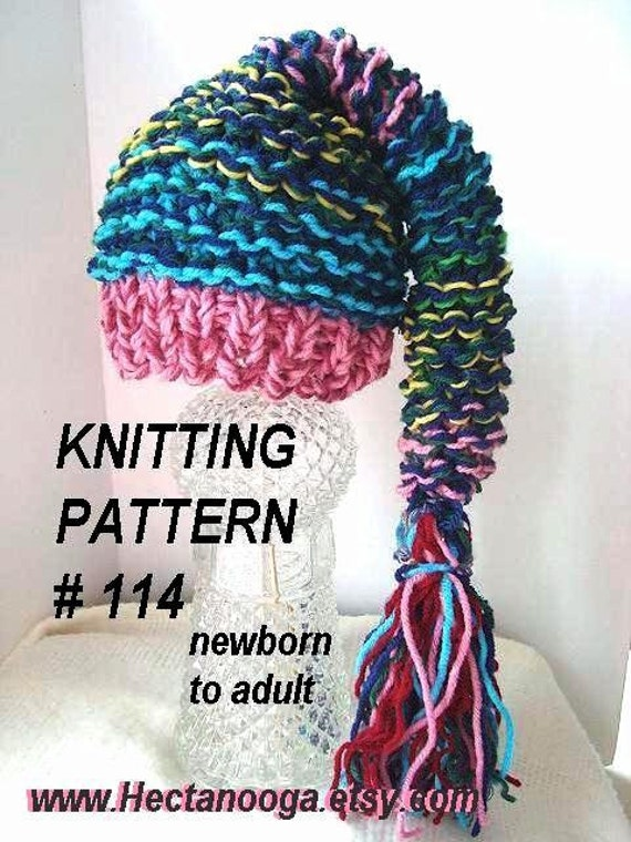 Knitting Pattern Numbers : PIXIE HAT HAT Knitting pattern number 114 Crazy easy pixie