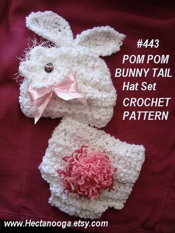 Free Crochet Pattern For Bunny Ears And Diaper Cover : BUNNY set HAT and DIAPER Cover 3 sizes newborn to by ...