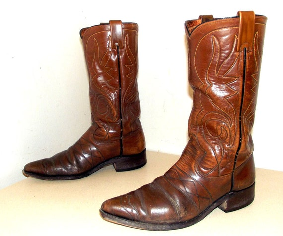 Vintage Texas Imperial brand Cowboy Boots by honeyblossomstudio