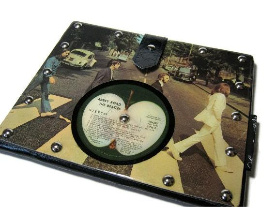 iPad Sleeve, leather, featuring Beatles vintage record album