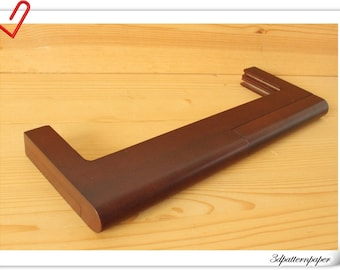 12 .5 inch  wooden purse frame  wooden handle Coffee M53