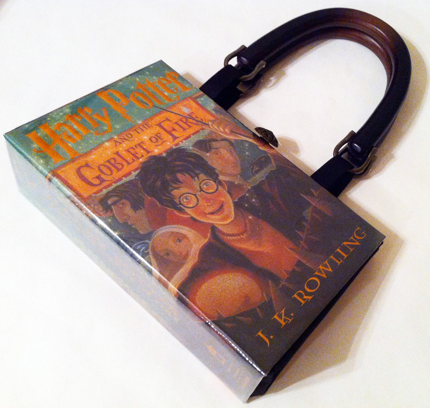 Harry Potter Book Cover Fabric : Harry potter and the goblet of fire book purse by