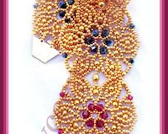 Beading Tutorial - Margarita Bracelet - Netting stitch