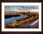 St. Paul, MN Skyline at Sunset - Fine Art Print
