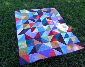 Simply Solids, Handmade Patchwork Quilt