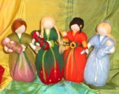 Four Season Dolls, fairies, made to order, OOAK, needle felted, nature table, Waldorf, Seasonal table, Flower Fairies,