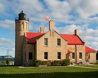 Old Mackinac Lighthouse - Canvas Wrap - Michigan Photography