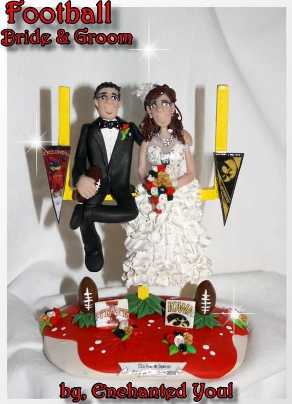 Football Wedding Cake Topper By EnchantedYou54449 On Etsy