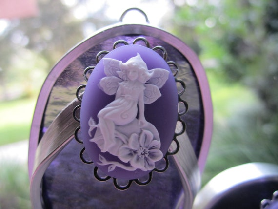 Purple Fairy Flipflop Suncatcher