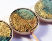 "Sweet home vintage maps edible images hard candy lollipops -  2"" lollipops - 5 pc. - MADE TO ORDER"