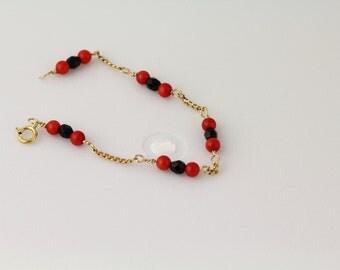 Glass Bead Child's Bracelet. Listing 111171345