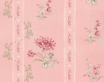 Cabbages and Roses for Moda, Athill Range, Floral Stripe in Pink 35213.15 - 1 Yard