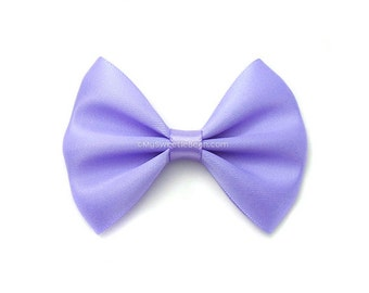 Iris Hair Bow, 3 Inch Bow, Satin Hairbow, Toddler Hairbows For Girls Babies Women Pastel Purple