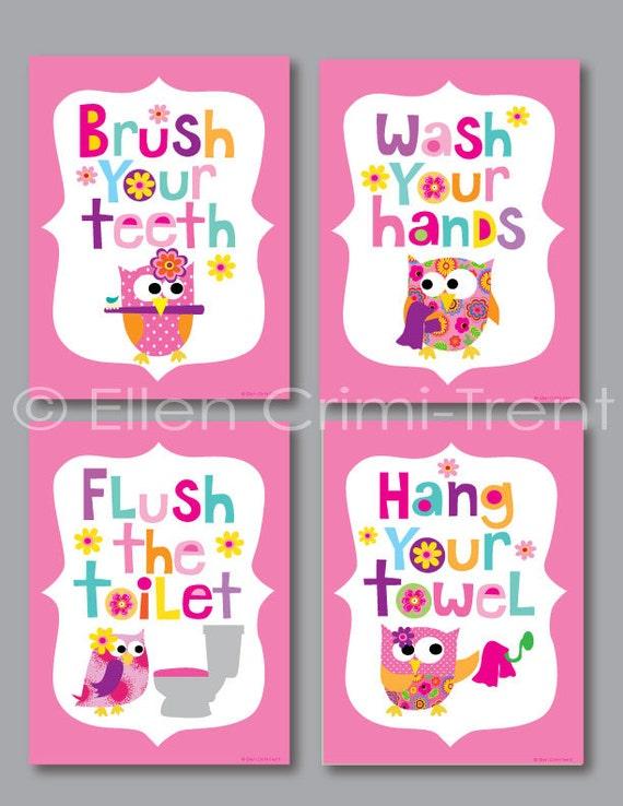 Items similar to kids bathroom decor girls bathroom for Bathroom decor items