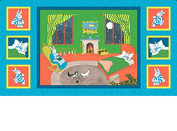 Goodnight Moon Quilt Panel Juvenile Print Fabric by Quilting