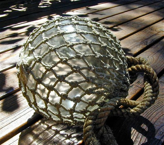 Glass Fishing Float Collectible, Honeycomb 6 to 7 INCH DIAM, Antique, Ocean, Beach Cottage Decor, Maritime, Fishing Decor, Nautical Decor