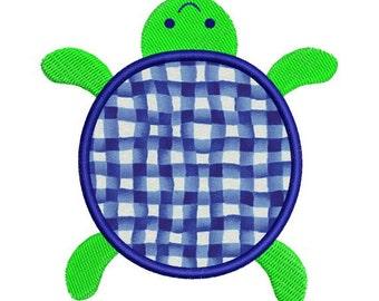 Turtle Applique Machine Embroidery Designs 4x4 Hoop Instant Download Sale