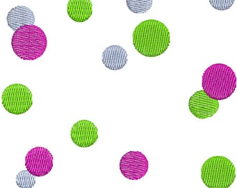 Polka Dot polkadots Frame Machine Embroidery Designs Instant Download