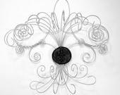 Fleur de lis Jewelry Hanger with 30 hooks