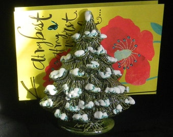 Ceramic  tree  card Holder or Christmas tree napkin holder
