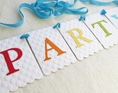 Party Birthday Banner - Embossed Large Dots - Birthday Party Decor Party Garland Party Decoration Birthday Party Photo Booth Prop Banner