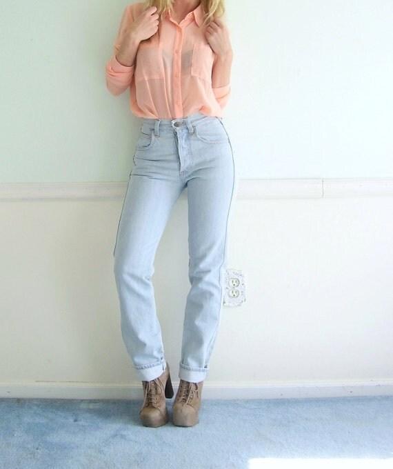 Georgio Armani Vintage 90s High Waist Jeans Designer 27 XS SMALL
